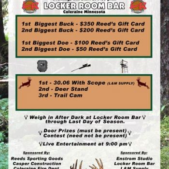 Just finished the poster for the Big Buck Contest in town. Buy a ticket, shoot a big buck, get cool prizes. Win Win...
