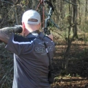 It's time for 3D archery season. Athens bow, Black Eagle arrows and HHA sight.