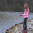 My daughter doing some fishing this spring.